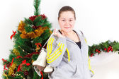 Young woman with the skates — Stock Photo