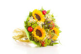 Bouquet flowers , isolated — Stock Photo