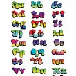 Graffiti Rainbow Font — Stock Vector