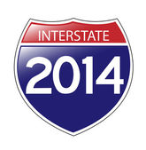 Interstate 2014 — Vector de stock