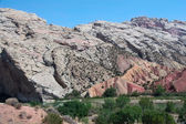Yampa River and Geologic Formations — Stock Photo