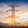 High voltage towers at sunset — Stock Photo #29338431