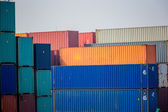 Container Yard and Crane — Stock Photo
