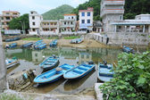 Boats are the daily traffic in shenzhen nanao town — Stock Photo