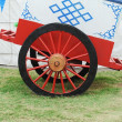 Vintage Vintage Horse Carriage wheel with mongoliyurt — Stok Fotoğraf #14049388