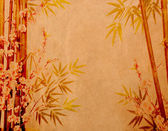 Bamboo on old grunge antique paper texture — ストック写真