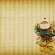 Christmas greeting card with Santa Claus — ストック写真