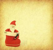 Tarjeta de felicitación de navidad con santa claus y arranque — Foto de Stock