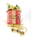 Colorful gift boxes with ribbon and bow — Photo