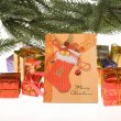 Royalty-Free Stock Photo: Colorful gift boxes with ribbon and bow.