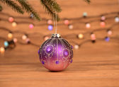 Christmas Decorations with light — Stock Photo