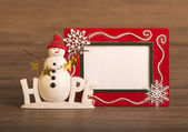 Lonely snowman make of corrugated paper — Stock Photo