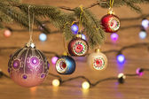 Christmas Decorations with light — Stockfoto