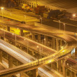Highway overpass at night — Stock Photo