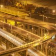 Stock Photo: Highway overpass at night