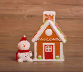 House and christmas decorations — Stock Photo
