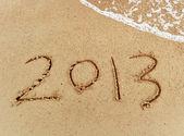 Antal 2013 på stranden sunrise — Stockfoto