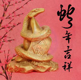 Chinese 2013 for Year of Snake design, words mean happy new year — Stock Photo