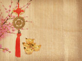 Chinese new year ornament on white background — Stock Photo