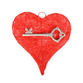 Key and heart, Valentine Concept — Stock Photo