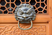 Bronze doorknocker with Lion — Stock Photo