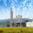Gas processing factory. landscape with gas and oil industry — Stock Photo #23131444