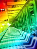 Iletişim ve Internet ağ sunucusu — Stok fotoğraf