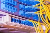 Centrum technologii z włókna światłowodowe urządzenia — Zdjęcie stockowe