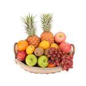Tropical fruits isolated on white — Stock Photo