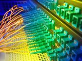 Serveur de réseau de fibre — Photo