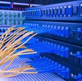 Servire con stile tecnologia ottica sfondo di fibra — Foto Stock