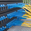Постер, плакат: Fiber cable serve with technology style against fiber optic back