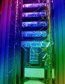 Communication and internet network server — Stock Photo