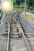 Narrow gauge railway,China's Sichuan province. — Stock Photo