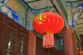 Traditional Chinese lantern hanging — Stock Photo