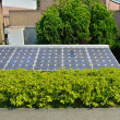 Solar cells were installed on the home — Stock Photo