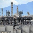 Gas processing factory. landscape with gas and oil industry — Stock Photo