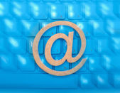 Email icon on a keyboard — Stock Photo