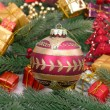 Christmas baubles Decorations — Stock Photo