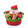 Little basket with gifts for Christmas — Stock Photo