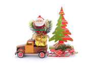 Truck with gifts, — Stock Photo