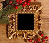 Christmas greeting photo frame — Zdjęcie stockowe