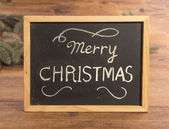 Merry christmas on School blackboard — Zdjęcie stockowe