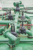 Pipes on the deck of the ship — Stock Photo