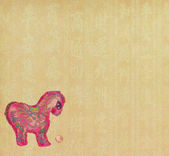 "Chinese horse knot on paper background, word for ""horse"", 2014 i — 图库照片"