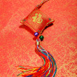 Traditional chinese knot,calligraphy mehappy new year — Stock Photo #40386289