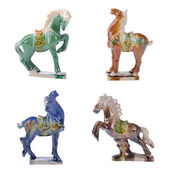 Ceramic horse souvenir,2014 is year of the horse — Foto Stock