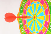 Target mark with darts — Stock Photo