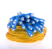 Fiber optical network cable — Stock Photo
