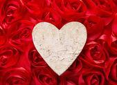 Love forever. Heart shape make of tree bark — Stock Photo